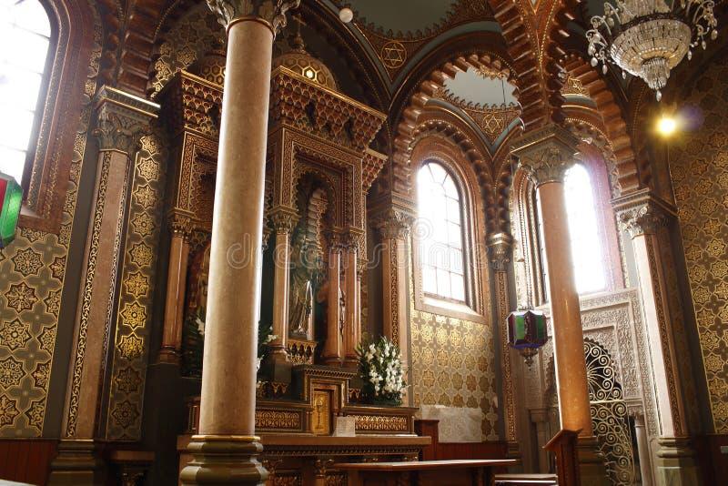 Capela do senhor Saint Jose na catedral, Leon, Guanajuato Vista de canto imagem de stock