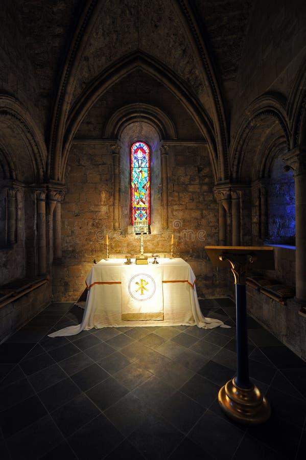 Capela do sustento do castelo de Dôvar fotos de stock royalty free
