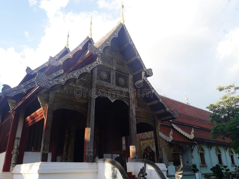 A capela do templo em Chiang Mai, Tailândia fotografia de stock royalty free