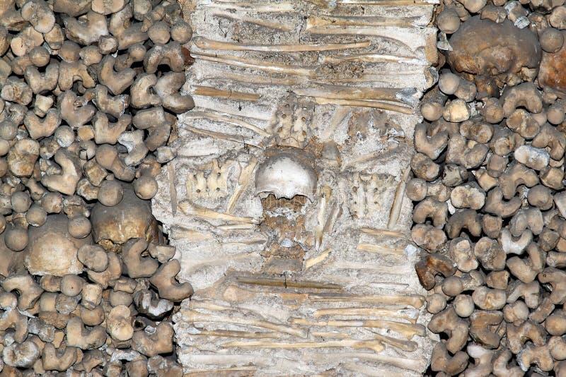 Capela Dos Ossos in Evora, Portugal stock foto's