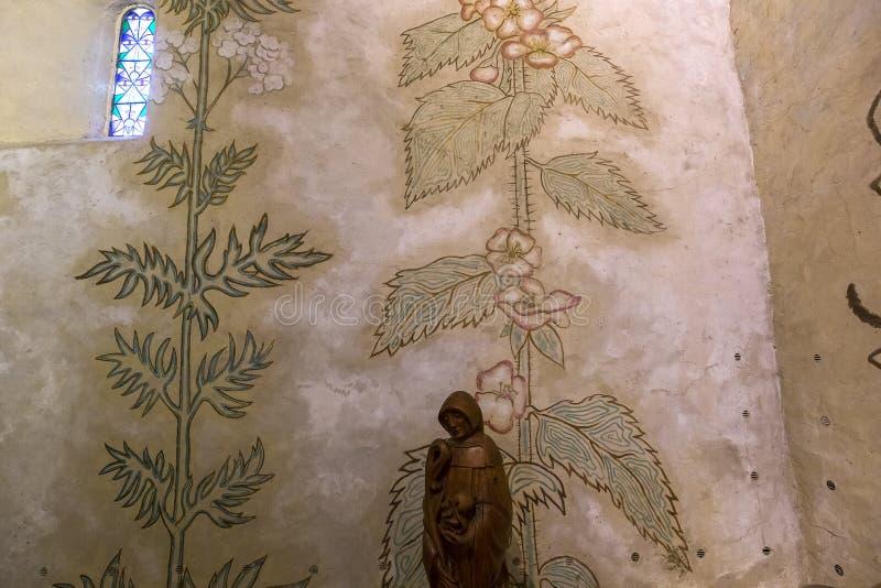 Capela dos simples do DES de blaise de Saint, foret do la de Milly, França fotografia de stock royalty free