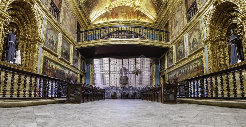 Capela Dourada在累西腓,巴西 图库摄影