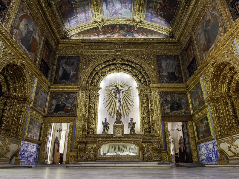 Capela Dourada在累西腓, PE,巴西 免版税库存照片