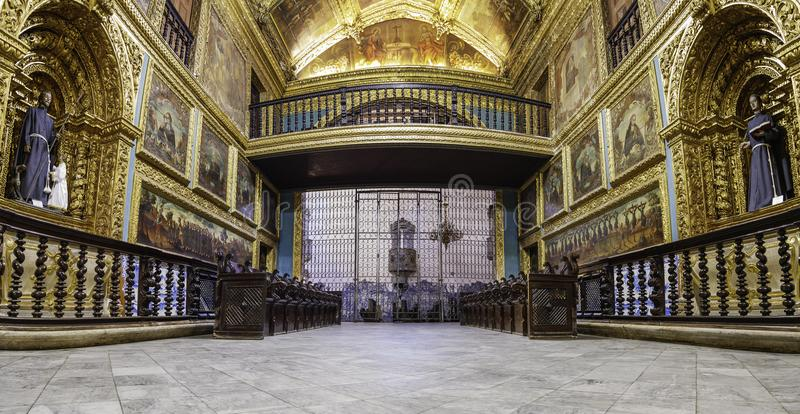 Capela Dourada en Recife, el Brasil fotografía de archivo