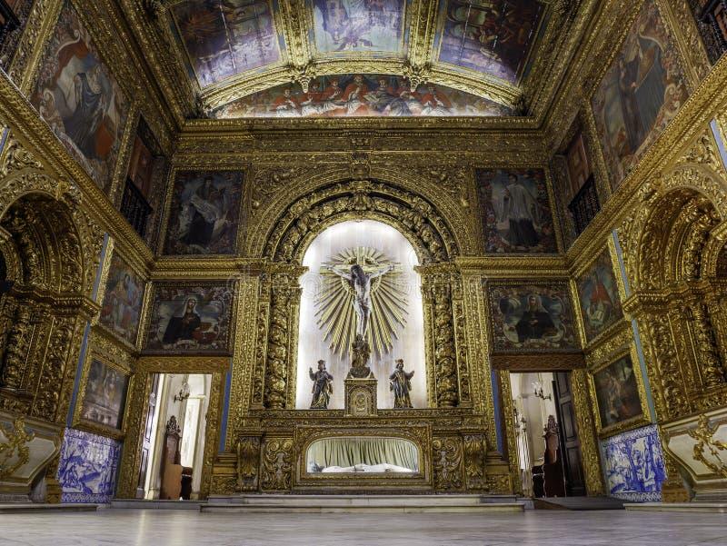 Capela Dourada i Recife, PE, Brasilien royaltyfria foton