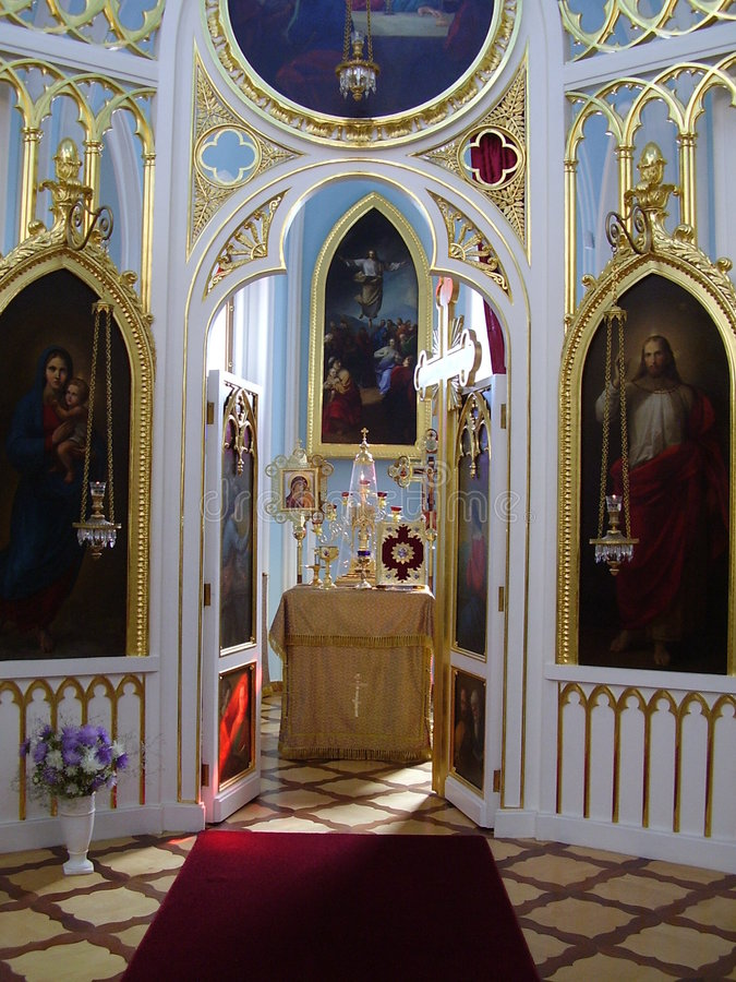 A capela gótico no peterhof, Alexandria. fotos de stock royalty free