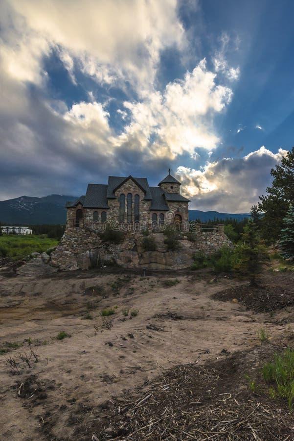 Capela na rocha, Allenspark Colorado fotografia de stock