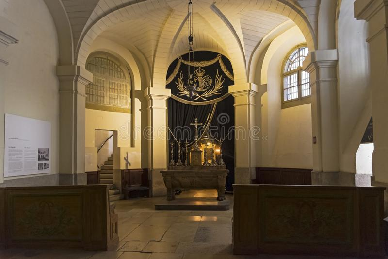 A capela no castelo de Conciergerie paris imagem de stock royalty free