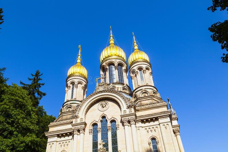Capela ortodoxo Wiesbaden do russo fotografia de stock royalty free