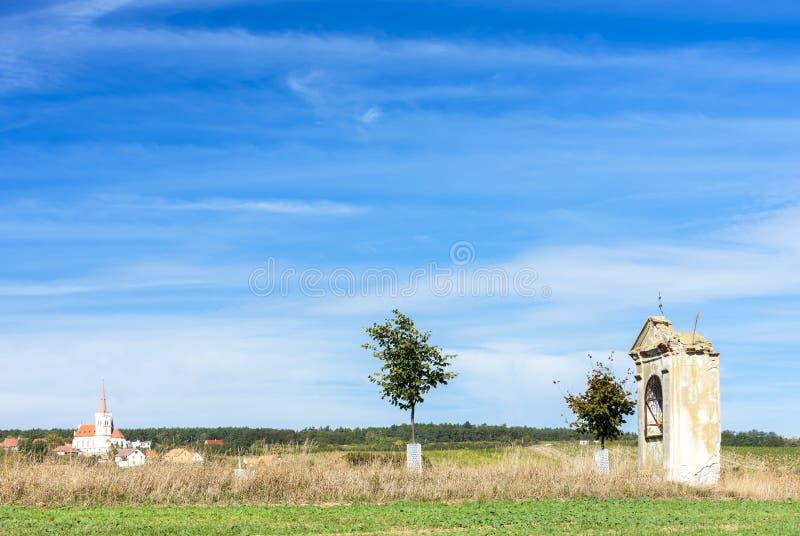 capela perto de Konice, regi?o de Znojmo, Rep?blica Checa imagem de stock