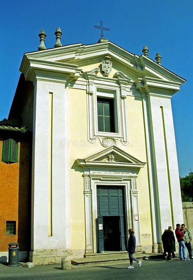 Capela quo vadis de Domine, Roma, Itália imagens de stock royalty free