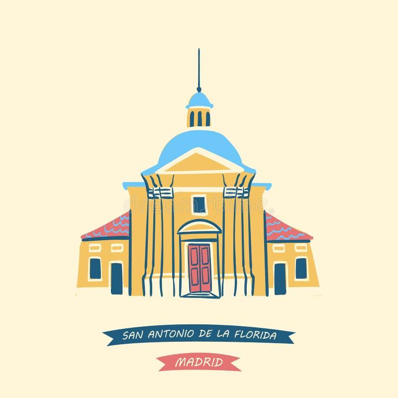 a capela real de St Antony do La Florida ilustração royalty free