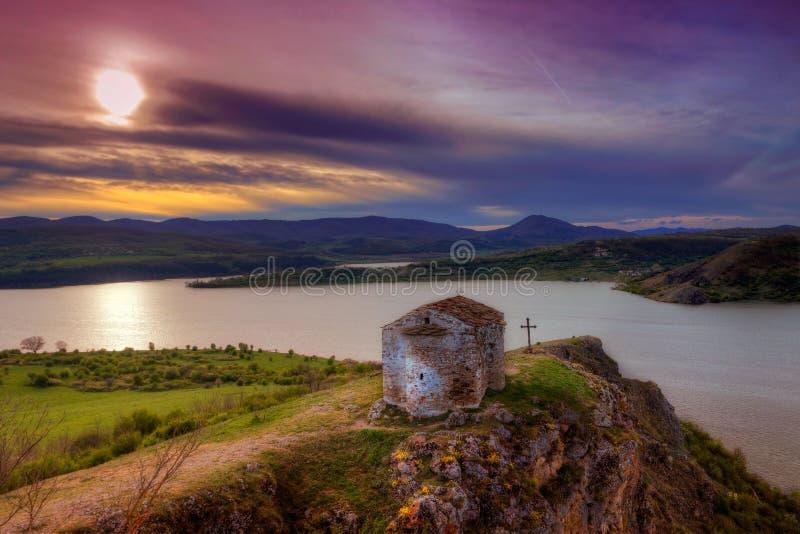 A capela velha StJohn Letni, Bulgária foto de stock royalty free