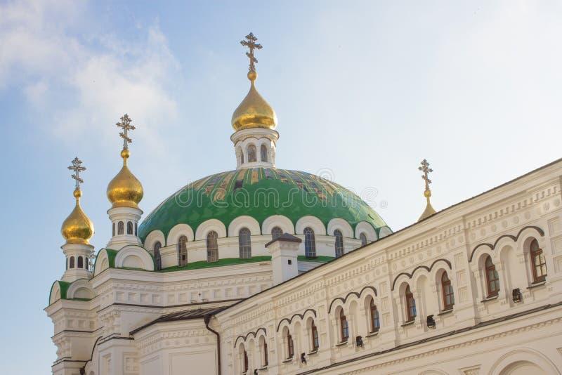 Capelas da igreja do refeitório, Kiev Pechersk Lavra em Kiev, a capital de Ucrânia fotos de stock