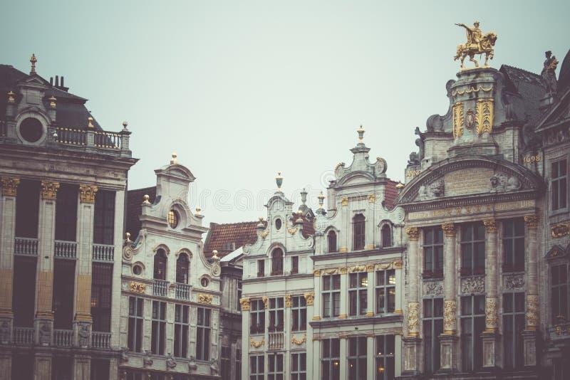 Capelas em Grand Place, Bruxelas, Bélgica imagens de stock royalty free