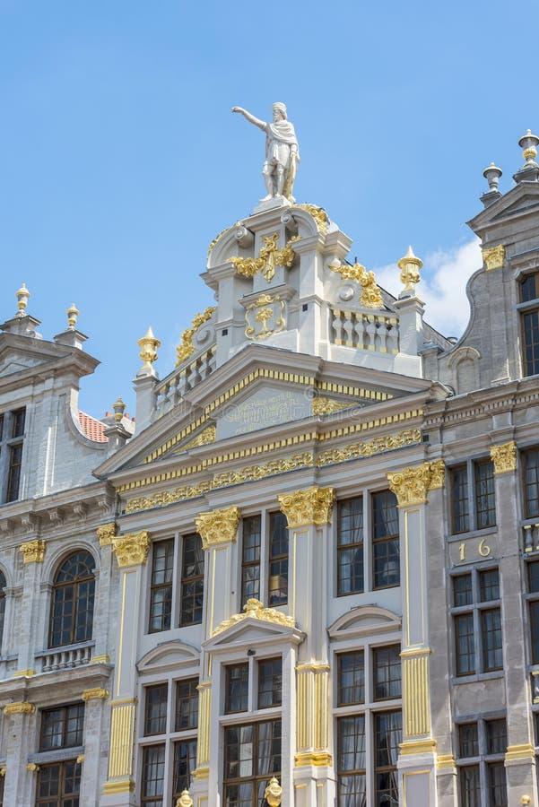 Capelas em Grand Place de Bruxelas em Bélgica fotografia de stock royalty free