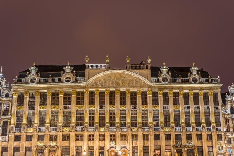 Capelas em Grand Place em Bruxelas, Bélgica imagem de stock