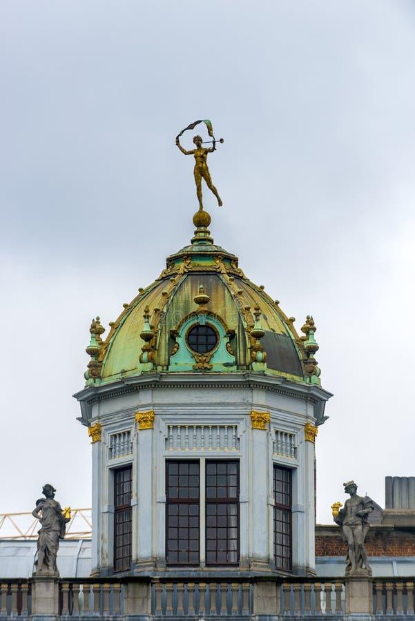 Capelas em Grand Place em Bruxelas, Bélgica fotos de stock