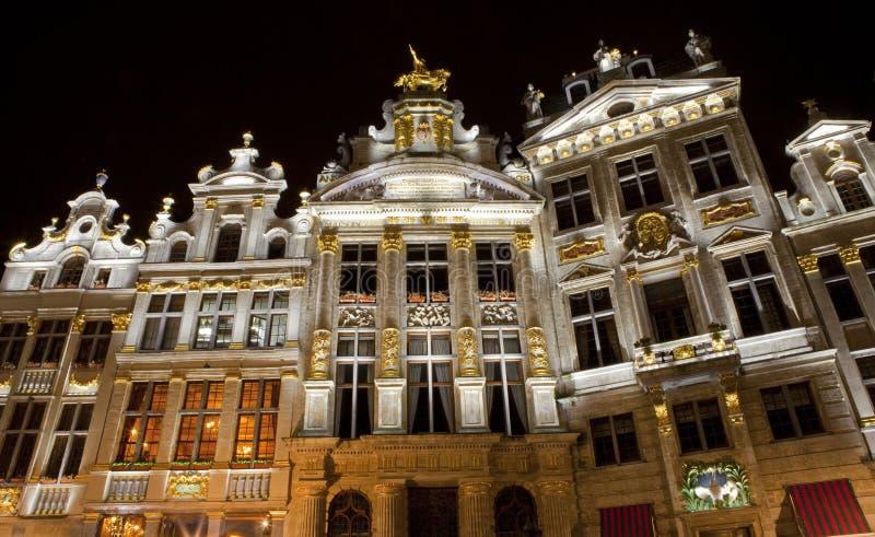 Capelas no lugar grande em Bruxelas. fotografia de stock royalty free
