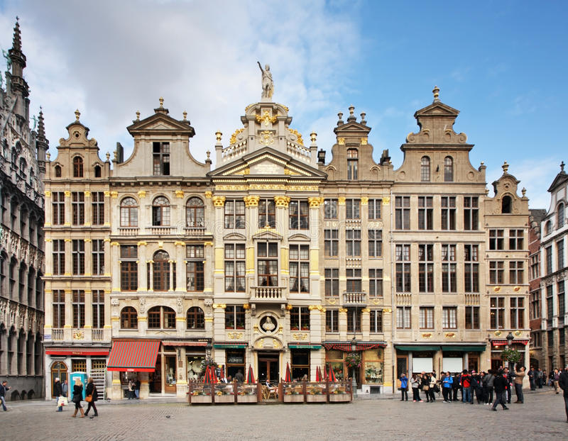 Capelas no lugar grande em Bruxelas bélgica fotos de stock