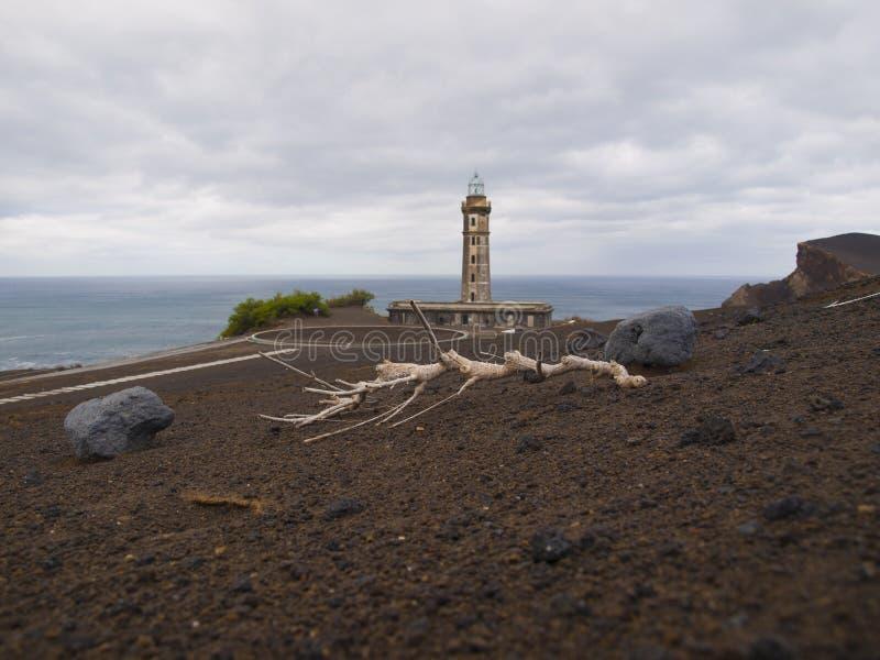 Capelinhos volcano area lava rocks stock photos