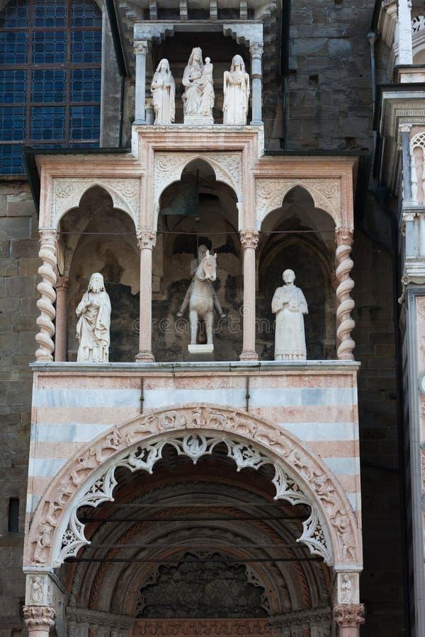 Capella Coleoni, ville supérieure de Bergame, Italie image libre de droits