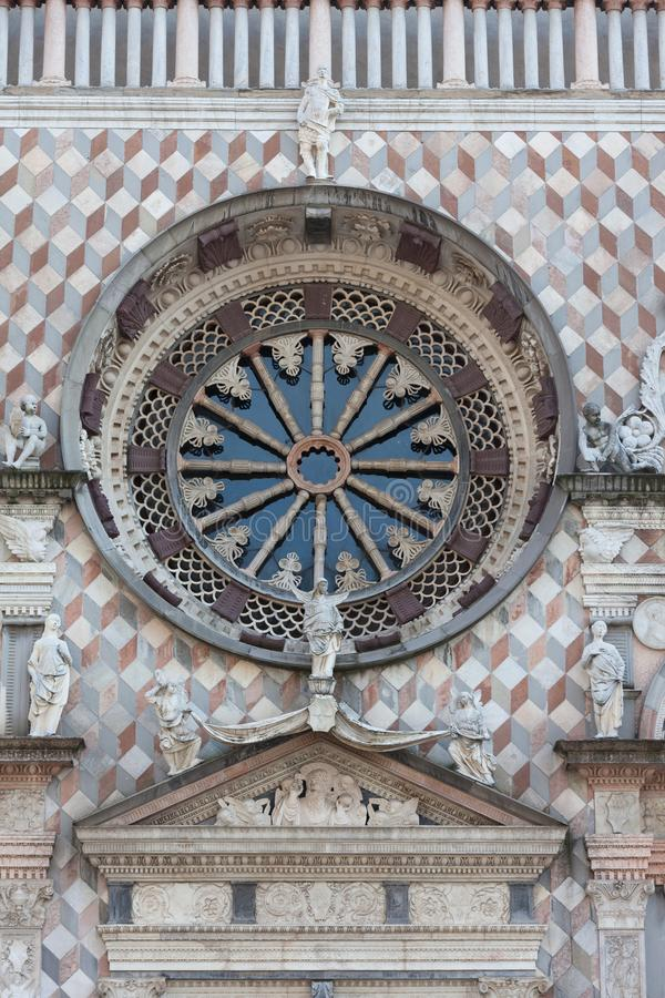 Capella Coleoni, ville supérieure de Bergame, Italie photos stock