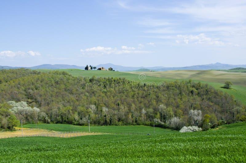 Capella di Vitaleta en ` Orcia, Italie de Val d images libres de droits