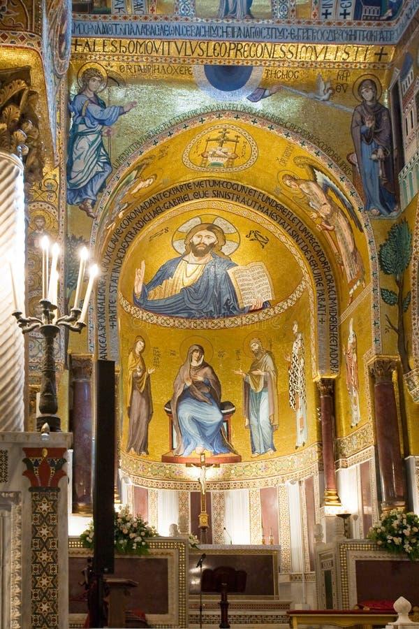 Capella Palantina in Palazzo Reale. Interior of Capella Palantina in Palazzo dei Normanni, Palermo, Italy stock image