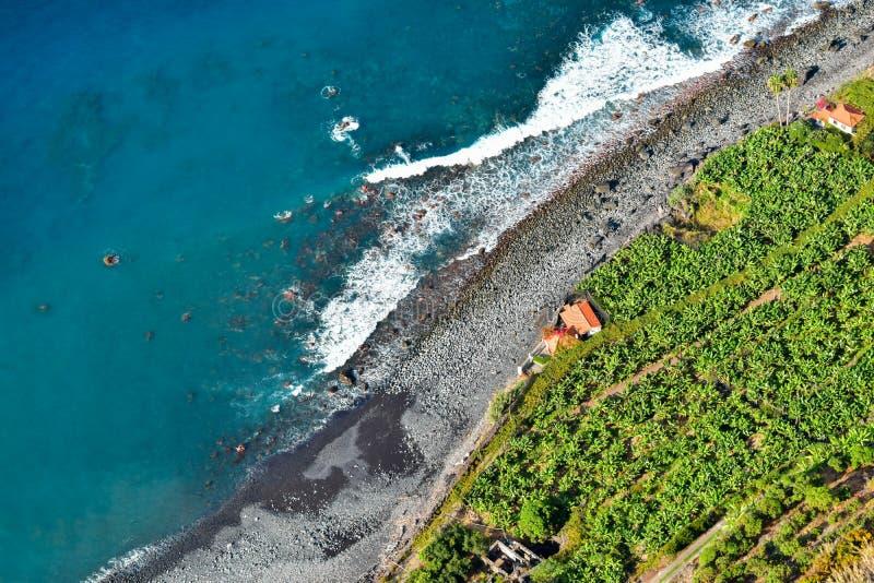 Capellanes del DOS de Fajã - Madeira foto de archivo libre de regalías