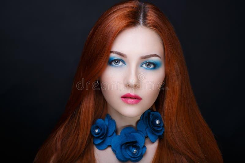 Capelli dell'arancia della donna immagini stock libere da diritti
