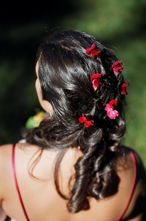 Capelli della sposa fotografie stock libere da diritti