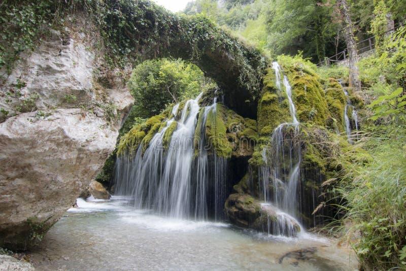 Capelli di Venere waterfall stock photography
