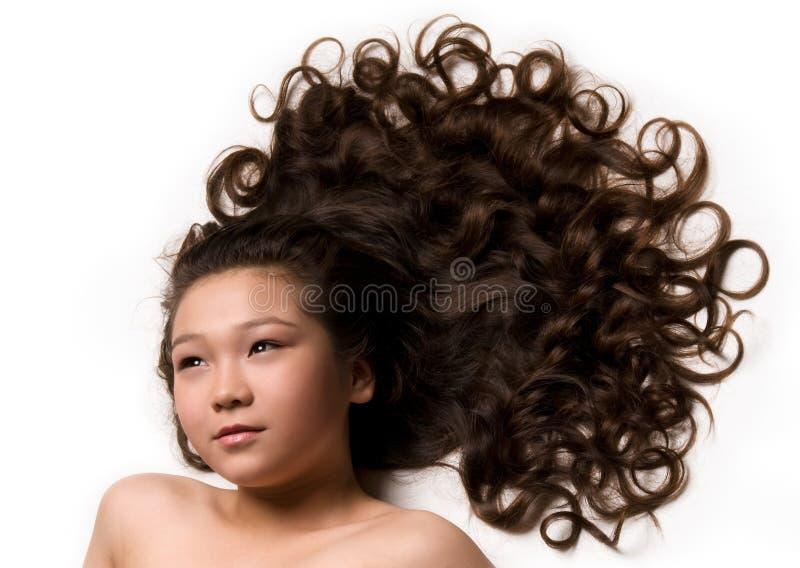 capelli lungamente fotografie stock libere da diritti