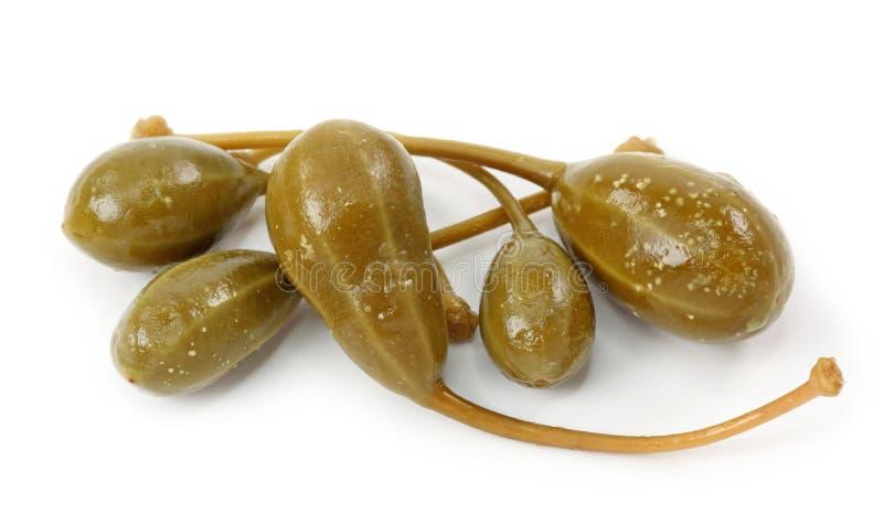 Caperberries conservados en vinagre foto de archivo