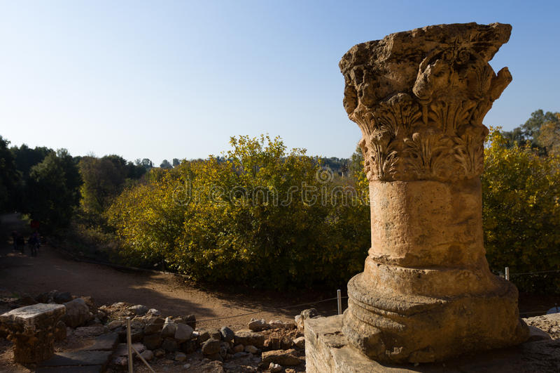 Capernaum, bâti des béatitudes photographie stock