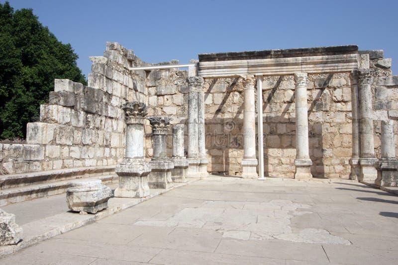 Capernaum Synagoge lizenzfreie stockfotografie