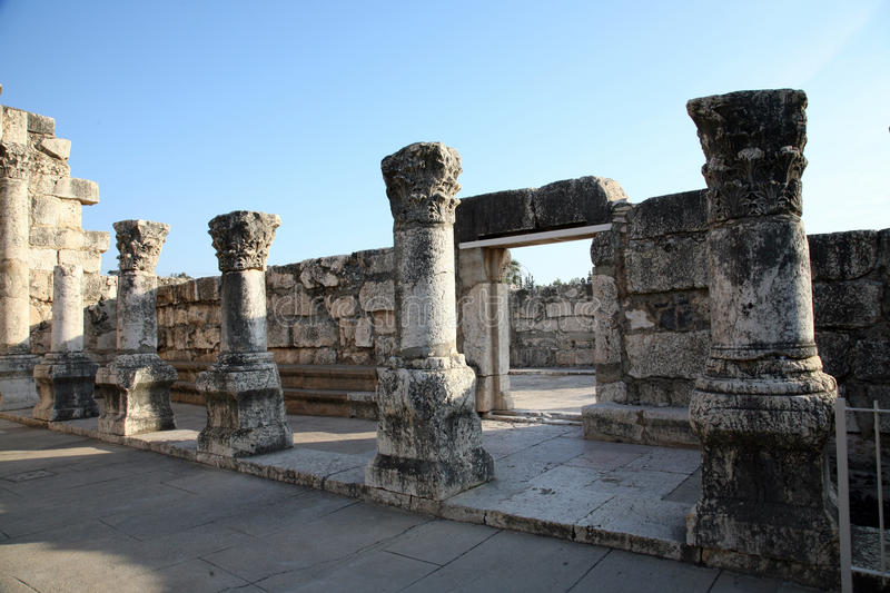 Capernaum synagogue royalty free stock photos