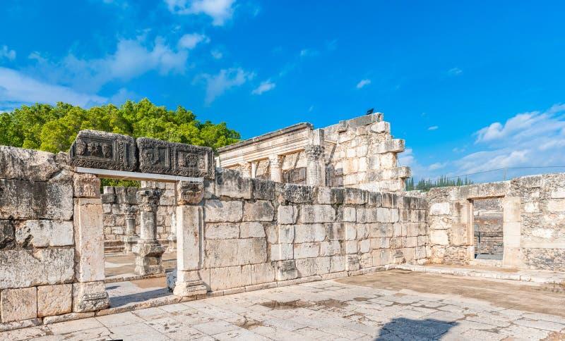 Capernaumsynagoge royalty-vrije stock fotografie