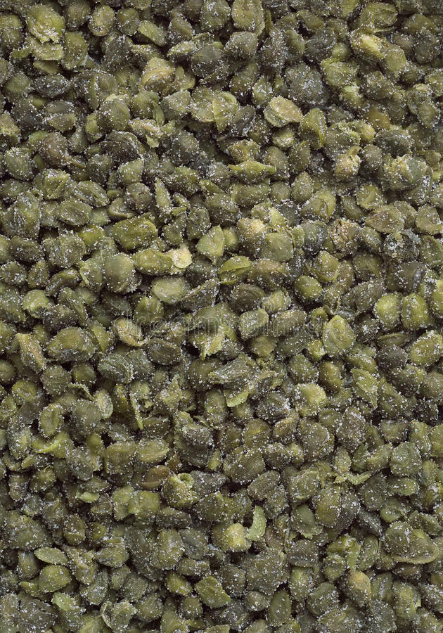 Capers under salt royalty free stock photo