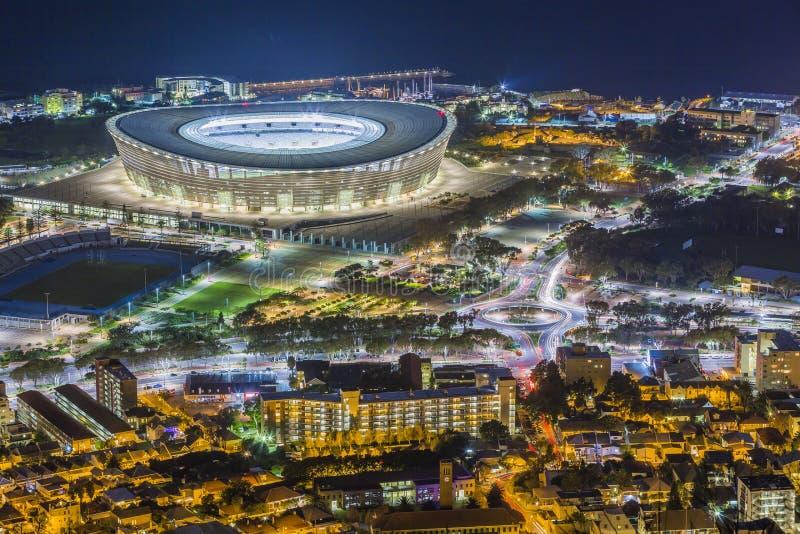 Capetown stadion Sydafrika arkivfoto