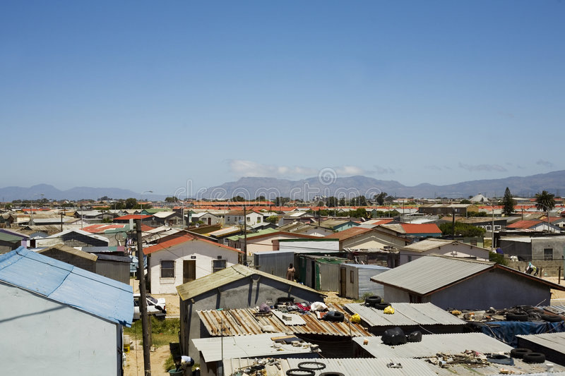 Capetown townships royalty free stock image