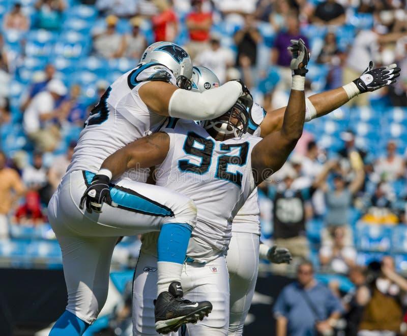 Capi del NFL Kansas City contro le pantere della Carolina fotografie stock libere da diritti