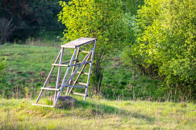 Capi della foresta e di caccia della natura della primavera fotografie stock libere da diritti
