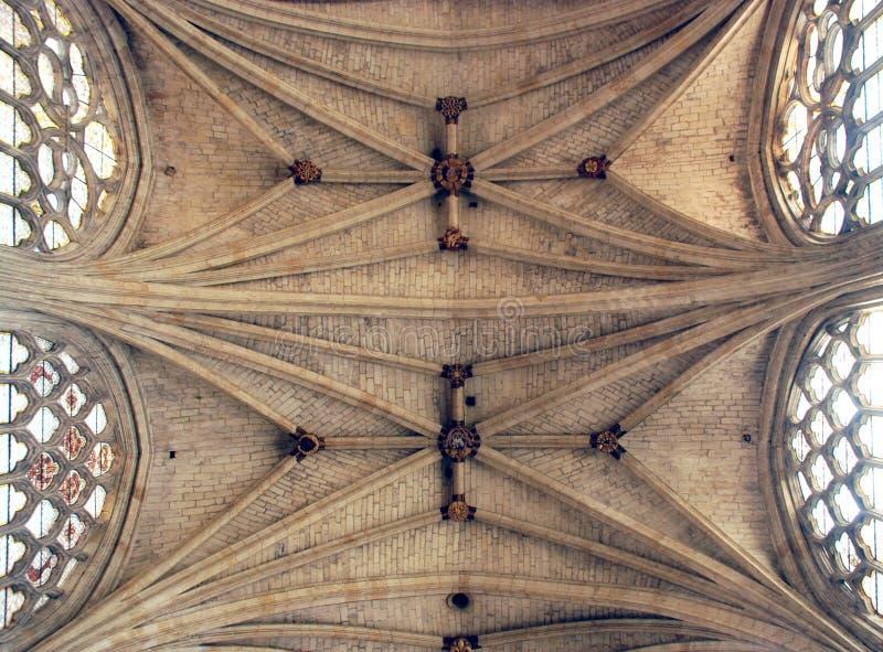 Capi della volta della cattedrale di de Condom del Saint Pierre fotografia stock