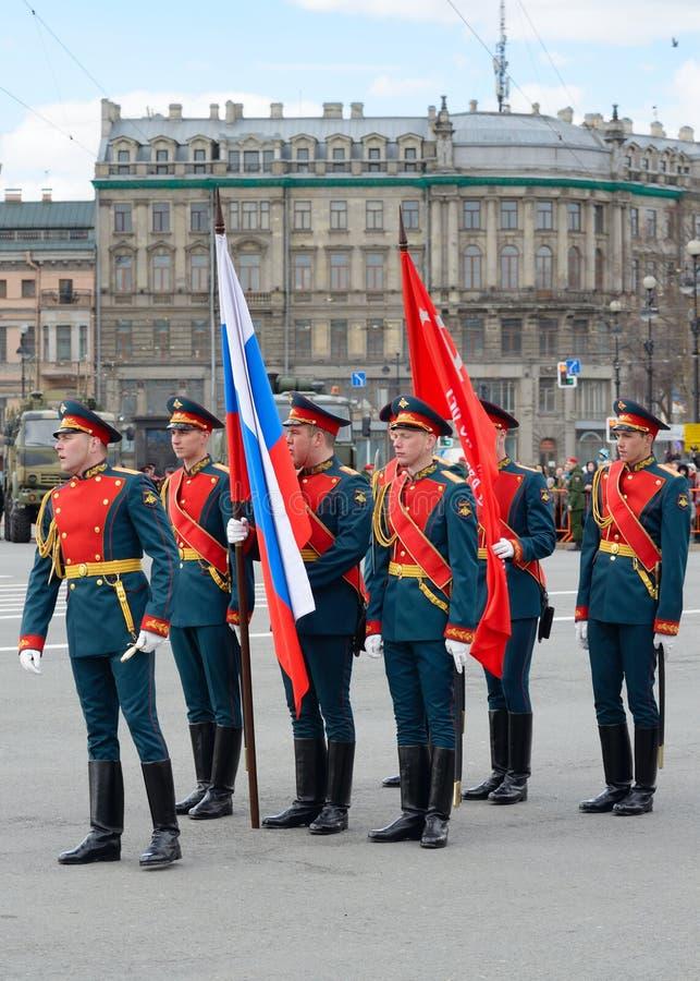 Capi di un movimento russi nella parata delle forze armate immagini stock libere da diritti