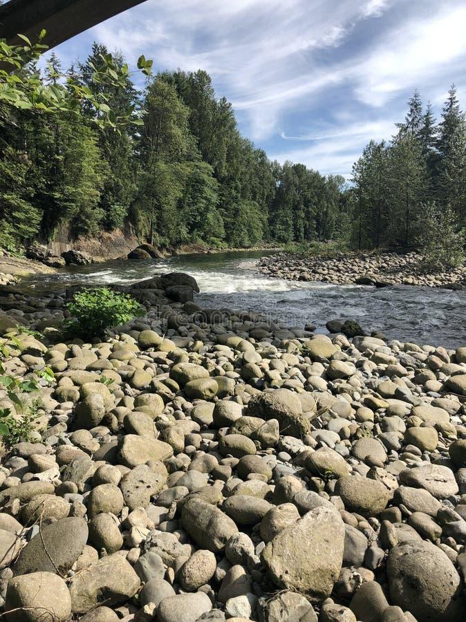 Capilano-Fluss lizenzfreie stockfotografie
