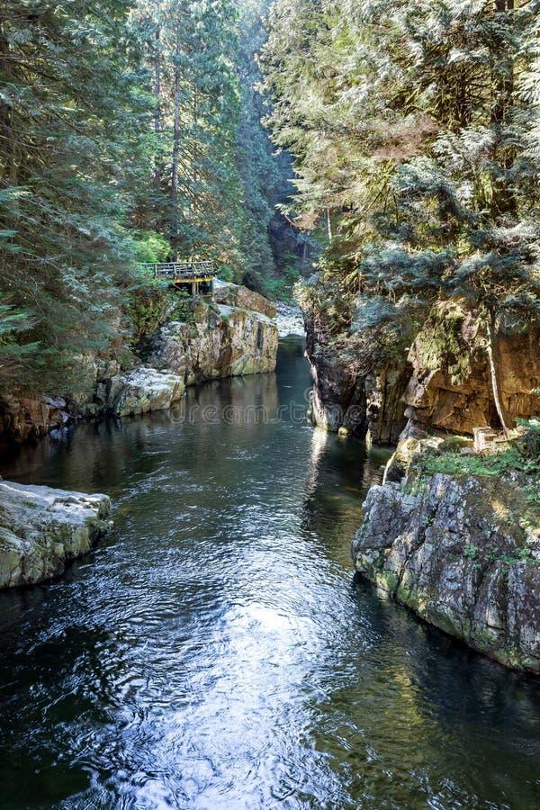 Capilano-Fluss lizenzfreies stockbild