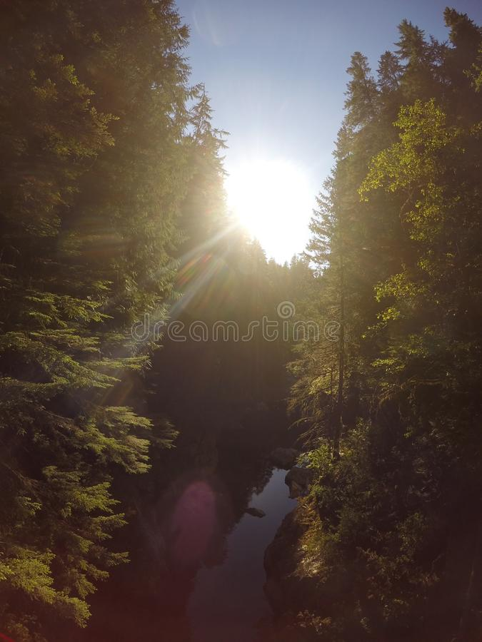 Capilanorivier, Vancouver VC, Canada royalty-vrije stock afbeelding