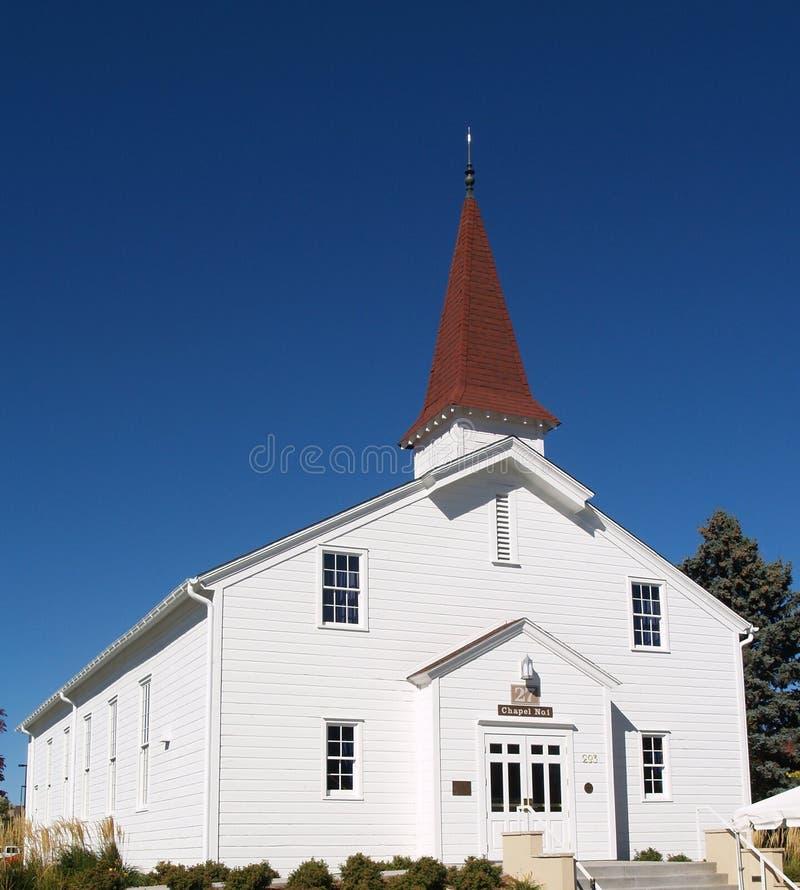 Capilla blanca de Eisenhower de la iglesia foto de archivo